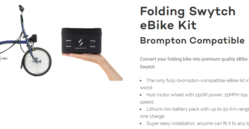 A cheaper, lighter electric Brompton?